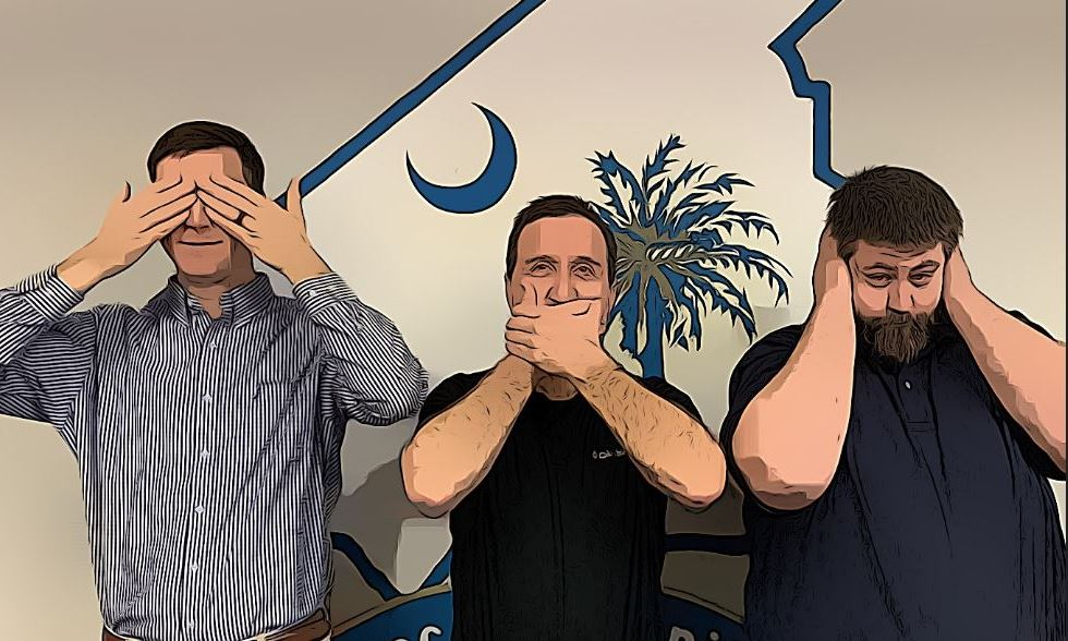 See no evil, speak no evil, hear no evil