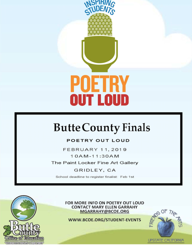Poetry Out Loud Flyer