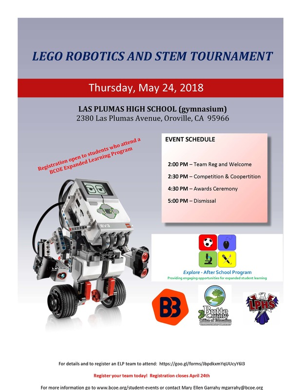 Lego Robotics and STEM Tournament Flyer