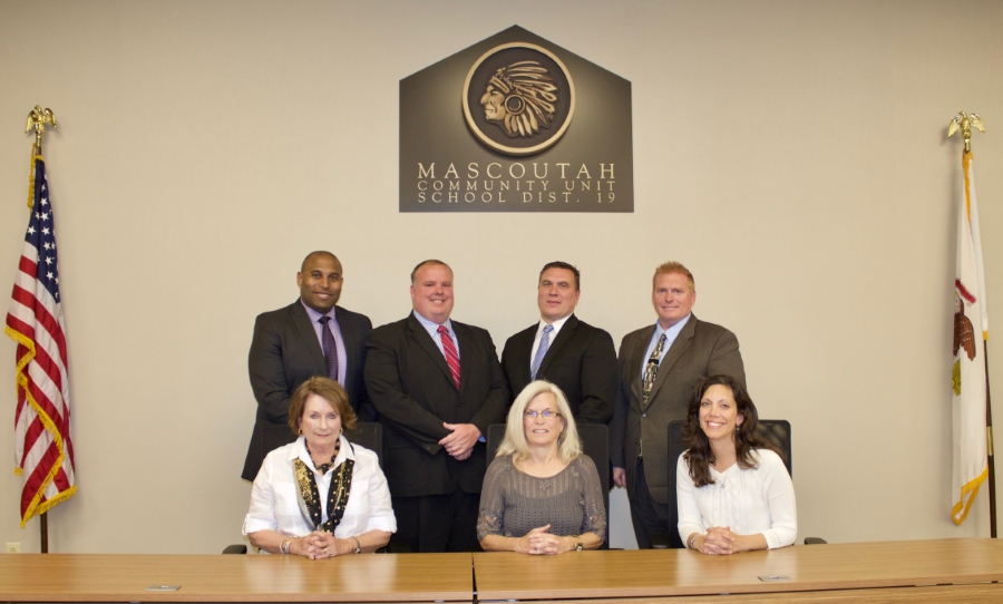 A photo of the Board of Education
