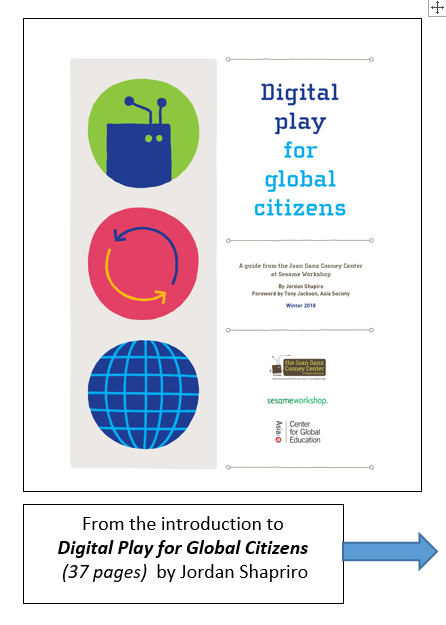 Book Cover: Digital Play for Global Citizen
