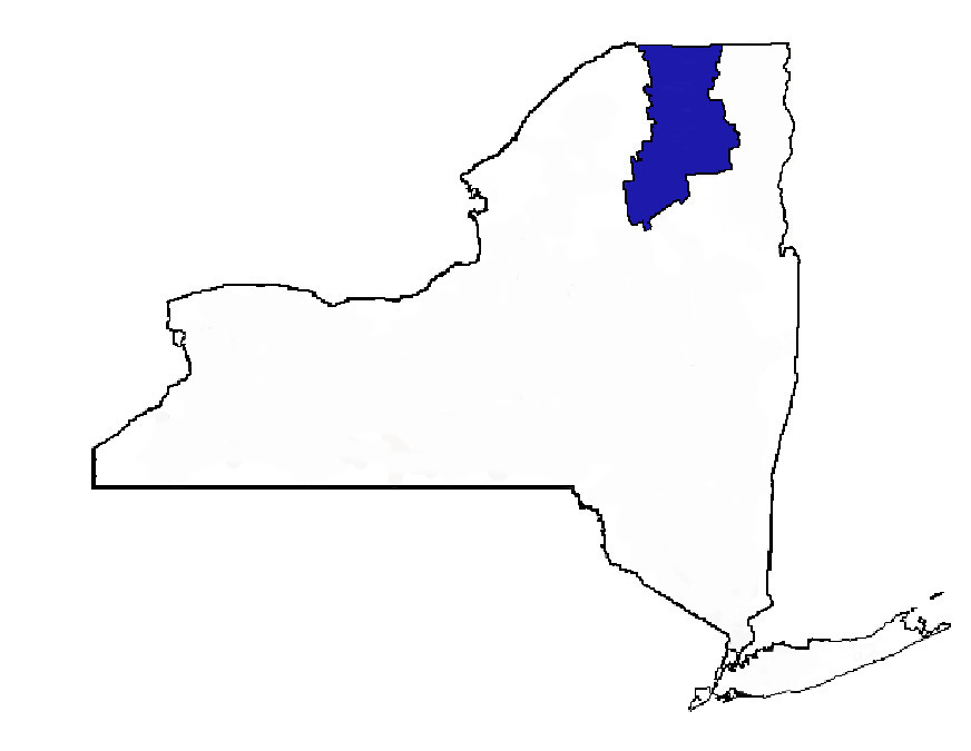 New York State Map with FEH highlighted